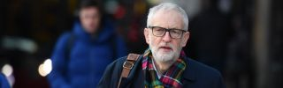 Labour Party leader Jeremy Corbyn campaigns outside Finsbury Park station in London on Dec. 2, 2019.