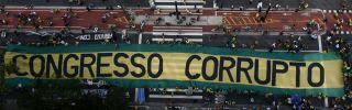 A Brazilian anti-corruption protest in Sao Paulo on Dec. 4, 2016.