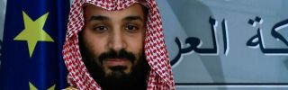 Saudi Crown Prince Mohammed bin Salman poses for a photograph on a visit to the Palace of Moncloa in Madrid, Spain, on April 12, 2018.