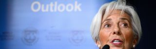 Christine Lagarde, managing director of the International Monetary Fund, delivers an update of her institution's outlook for the global economy in 2019.