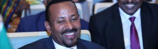 Ethiopian Prime Minister Abiy Ahmed meets with fellow African leaders in January 2019.
