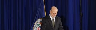 Federal Reserve Chairman Ben Bernanke at the Federal Reserve Board Building in Washington, DC, June 19, 2013.