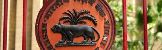 The logo of the New Delhi-based Reserve Bank of India is seen in this May 3, 2013, photo.