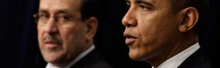 Iraqi Prime Minister Nouri Al-Maliki and U.S. President Barack Obama.