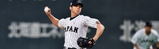 Japanese baseball player Shohei Otani has shown prowess both as a pitcher and as a power hitter, drawing interest by Major League Baseball teams.
