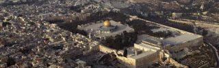 The Dome of the Rock gleams in Jerusalem's Old City.