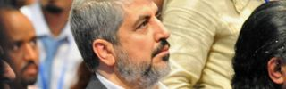 Hamas leader Khaled Meshaal in Rabat, Morocco, on July 14