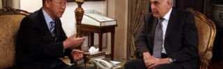 Egyptian Intelligence Officials and Cease-Fire Negotiations