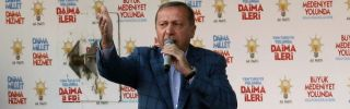 Turkish Prime Minister Recep Tayyip Erdogan addresses a crowd during an election rally in Ankara on March 22.