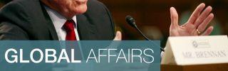 CIA Director John Brennan testifies during a Senate committee hearing on national security.s