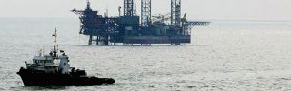 A China National Offshore Oil Corp. oil rig in the Bohai Sea off China's northeastern coast.