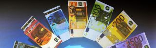 The European Central Bank presents new banknotes on Jan. 13.