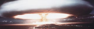 A picture from 1971 shows a nuclear explosion in Mururoa atoll.