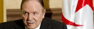 Algerian President Abdel Aziz Bouteflika is pictured at a meeting at the Zeralda private residence in Algiers.