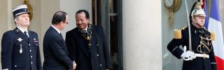 French President Francois Hollande meets Cameroonian President Paul Biya at the Elysee Palace in January 2013. France's colonial legacy in Africa shapes many of today's conflicts.