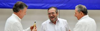 Colombia's president signed a peace deal with the head of the FARC militant group in Cuba on Aug. 23. The Colombian public must now approve the deal.