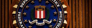 The Federal Bureau of Investigation crest inside the J. Edgar Hoover FBI Building in Washington, DC.