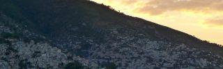 The slums of Haiti's capital, Port-au-Prince, stretch along a hillside.