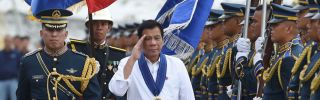 Less than a year into his term, Philippine President Rodrigo Duterte is on shaky ground. But he still has enough support among the population, the legislature and the country's biggest power brokers to fend off threats to his rule.