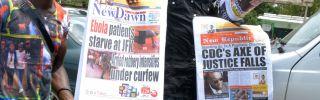 Media coverage of Ebola in West Africa