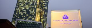 A general view of the new headquarters of the European Central Bank in Frankfurt on Dec. 4.