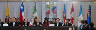 The Pacific Alliance presidential summit in Cali, Colombia, in May 2013.