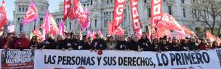 Unemployment protests in Spain