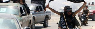 Fighters from Al-Qaeda's Syrian affiliate, Jabhat al-Nusra