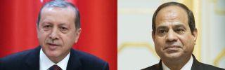 Turkish President Recep Tayyip Erdogan (L) and Egyptian President Abdel Fatah al-Sisi.