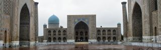 A view of the Register in Samarkand. Uzbekistan's clans are constantly jockeying for power, sometimes violently, in preparation for the succession.
