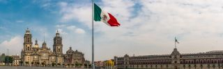 Mexico's flag flies in the country's capital, Mexico City.