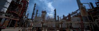 A Petroleos Mexicanos (Pemex) refinery processes petroleum in Tula, Mexico.
