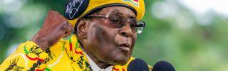 Zimbabwe's president, Robert Mugabe, addressing supporters on Nov. 8.