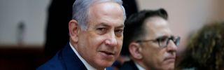 Israeli Prime Minister Benjamin Netanyahu sits in Jerusalem.