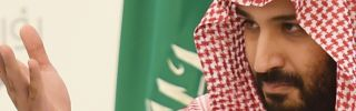 Saudi Deputy Crown Prince Mohammed bin Salman gestures during his press conference in Riyadh on April 25.