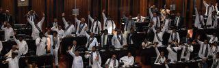 Sri Lankas parliament in Colombo