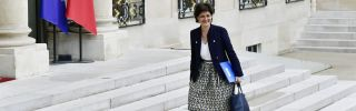 Sylvie Goulard, who currently serves as deputy governor of France's central bank, heads into a Cabinet meeting in May 2017.