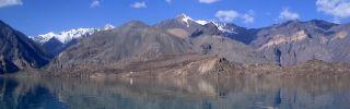 Lake Sarez sits at an elevation of 3,300 meters (10,827 feet) in Tajikistan's Gorno-Badakhshan Autonomous Region.