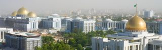 A view of the President palace in Ashgabat, Turkmenistan