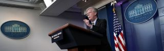 U.S. national security adviser John Bolton speaks during a White House news briefing on Oct. 3, 2018.