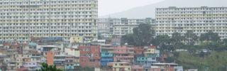 A general view shows the concrete superblocks in Barrio 23 de Enero in Caracas.