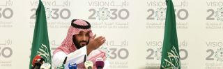 Saudi Deputy Crown Prince Mohammed bin Salman unveils his Vision 2030 plan for reform on April 25, 2016, in Riyadh.