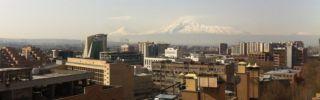 Mount Ararat as seen from Yerevan, Armenia
