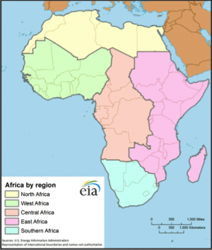 Africa map East Africa