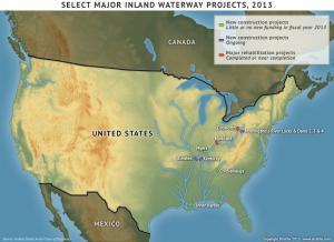 Select Major Inland Waterway Projects, 2013