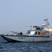 This photo shows an Iranian boat firing a missile during war games in 2011, another time of heightened tension over the Strait of Hormuz.