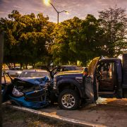 Bullet-ridden and wrecked vehicles in the Sinaloa state capital of Culiacan, Mexico, on Oct. 17, 2019.