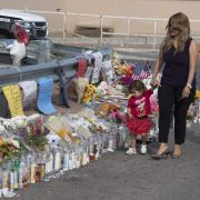 A memorial on Aug. 5, 2019, after a mass shooting the day before at the Cielo Vista Mall Walmart in El Paso, Texas, that left 21 people dead.