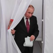 Vladimir Putin at Russian polls