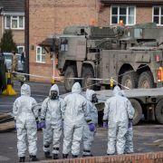 Scene of investigation near Sergei Skripal's London home